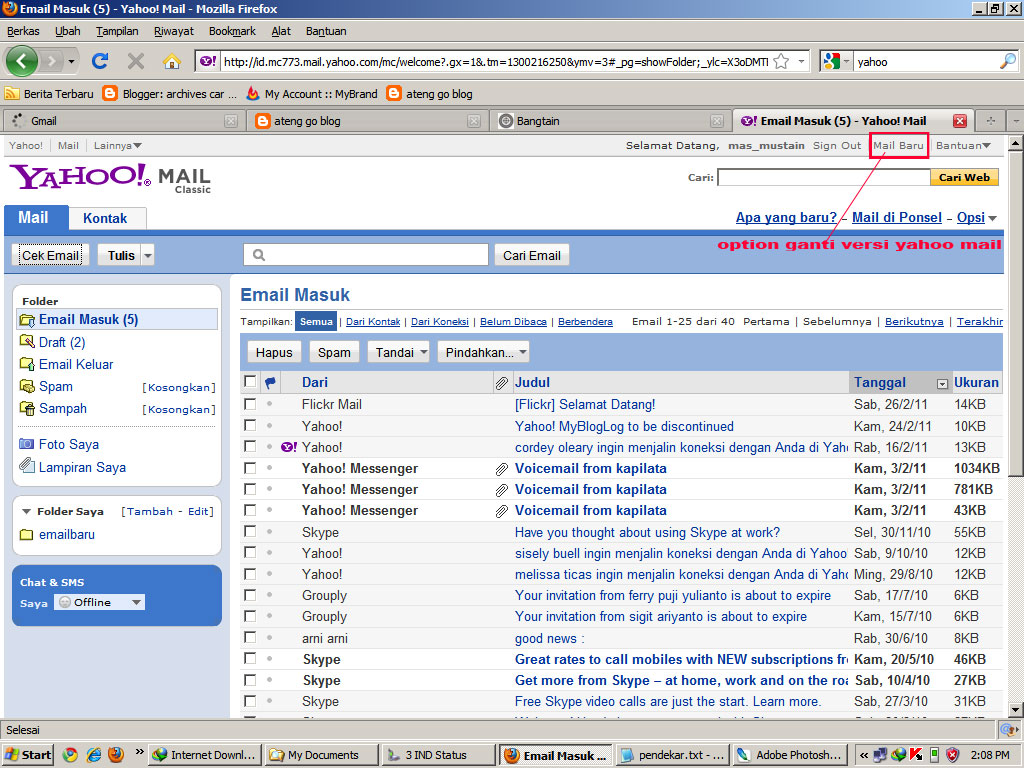 inbox yahoo mail email empty quickly go emails delete